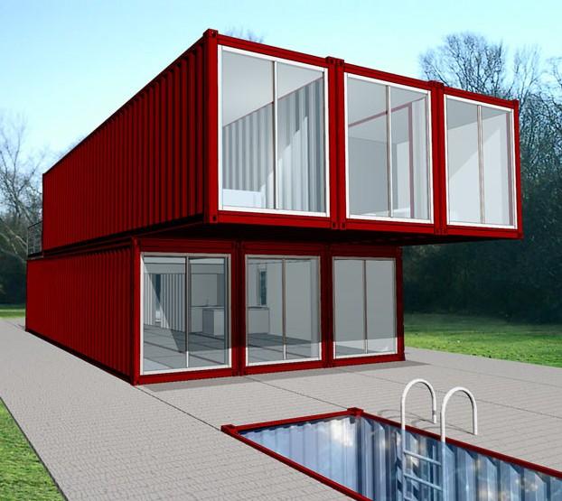 Projet ossature containers case container - Maison fait de conteneur ...